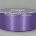 50mm wide light purple double faced satin woven ribbon 50m long competitive price