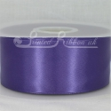 50mm wide purple double faced satin woven ribbon 50m long competitive price