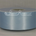 50mm wide light blue double faced satin woven ribbon 50m long competitive price