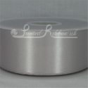 50mm wide silver double faced satin woven ribbon 50m long competitive price