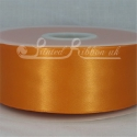 50mm wide orange double faced satin woven ribbon 50m long competitive price