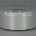 50mm wide white double faced satin woven ribbon 50m long competitive price