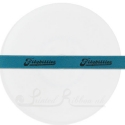 10mm wide aqua, teal, turquoise double faced satin custom printed personalised woven ribbon 25m roll length
