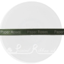 10mm wide sage green wedding ribbon printed with personalised message. 25m roll