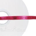 10mm fuchsia double faced satin personalised custom printed satin ribbon 50m roll length