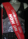 Clearance sale now on custom printed logo sash for businesses