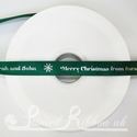15mm Emerald green printed Christmas Ribbon, 50m