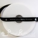 15mm black printed christmas ribbon festive ribbon 50m