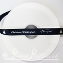 15mm Navy Blue printed Christmas Ribbon, 50m Festive printed ribbon