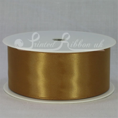 RD38GOLD25M GOLD 38mm Double faced satin ribbon - 25m roll
