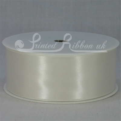 RD38IVRY25M IVORY 38mm Double faced satin ribbon - 25m roll