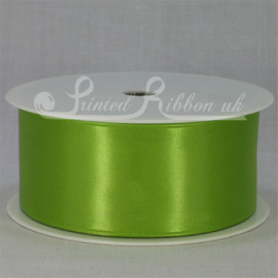 RD38LGRN25M LIME GREEN 38mm Double faced satin ribbon - 25m roll