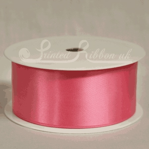 RD38HOTPINK25M HOT PINK Double faced satin ribbon - 25m roll