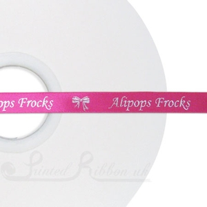 PR10BEAU50M BEAUTY PINK / SHOCKING PINK 10mm Satin Personalised ribbon, 50m roll