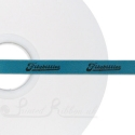 50m roll of Personalised Custom Printed 10mm wide TURQUOISE/AQUA double faced (d/f) Satin Ribbon - choose your print colour