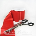 100mm 4 inches wide red single faced plain satin ribbon by the metre