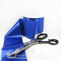 100mm 4 inches wide royal blue single faced satin plain ribbon by metre