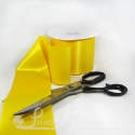 100mm 4 inches wide yellow single faced satin plain ribbon by the metre