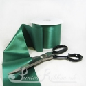 100mm wide 4 inches wide dark green emerald green satin ribbon by metre