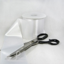 100mm 4 inches white single faced satin ribbon by metre
