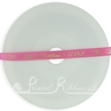 7MM HOT PINK printed wedding ribbon 25m roll