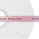 15mm light pink personalised printed satin ribbon bespoke printed satin ribbon 50 m roll