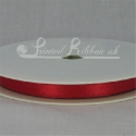 7mm Bright Red plain satin ribbon