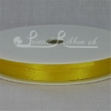 SUNFLOWER YELLOW 7mm Plain satin ribbon