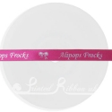 10mm beauty pink ribbon personalised printed bespoke ribbon