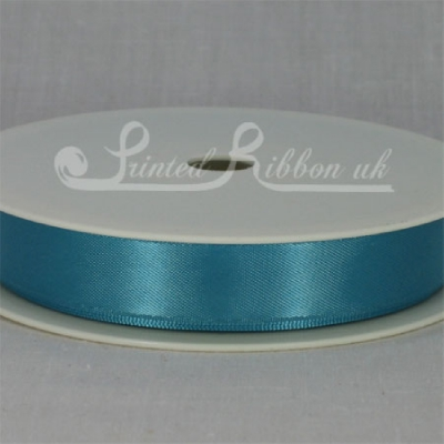 RD15TURQ25M AQUA / TURQUOISE / TEAL 15mm Double faced satin ribbon - 25m roll