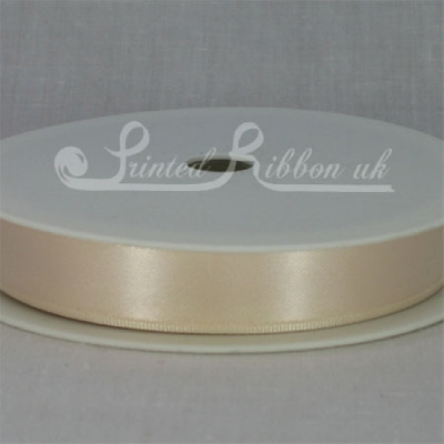RD15CREM25M CREAM 15mm Double faced satin ribbon - 25m roll
