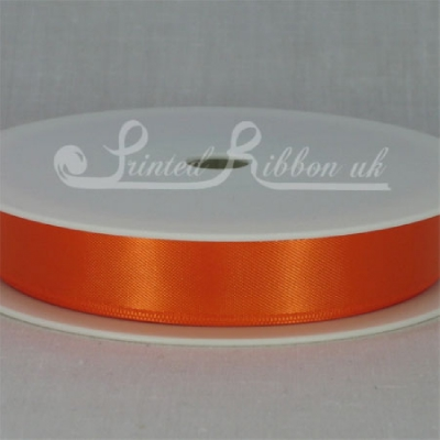 RD15BRNG25M BRIGHT ORANGE 15mm Double faced satin ribbon - 25m roll