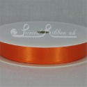 15mm bright orange satin ribbon 25m roll plain orange double faced satin by 25m roll