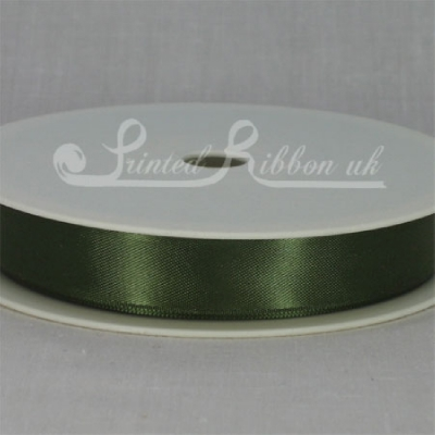 RD15SAGE25M OLIVE GREEN / SAGE GREEN 15mm Double faced satin ribbon - 25m roll