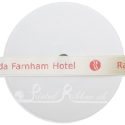15mm warm ivory/cream satin printed ribbon, personalised printed ribbon, bespoke ribbon 25m roll