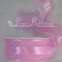 38mm Baby pink organza satin stripe ribbon