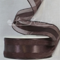 38mm organza ribbon with satin centre stripe beautiful ribbon 25m roll
