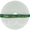 7mm emerald green personalised weddng ribbon, 25m