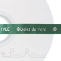 15mm Emerald Green / dark green personalised printed ribbon 50m