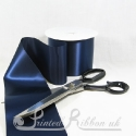 NAVY BLUE 100mm Single Faced Satin Ribbon by the metre - 4 inch