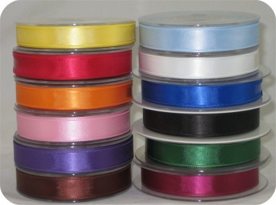 SCR15CHS25M 15MM Double Faced Satin Woven Ribbon for Crafting/Scrapbooking by the 25M roll