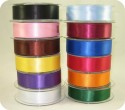25MM Double Faced Satin Woven Ribbonfor Crafting/Scrapbooking by the 25M roll