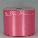 HOT PINK/ ROSE PINK 100mm Single faced satin ribbon - 50m roll