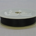 3mm double faced black satin ribbon