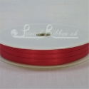 3mm bright red satin ribbon, 3mm double faced satin plain ribbon 50m roll