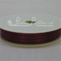 3mm burgundy satin ribbon, 3mm claret double faced satin ribbon, 3mm maroon satin ribbon