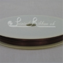 3mm brown satin ribbon, 3mm coffee brown double faced satin plain ribbon 50m roll