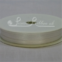 3mm Ivory double faced satin ribbon, 3mm plain satin ribbon by 50m roll