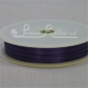 3mm purple plain satin ribbon double faced satin ribbon plain by roll 50m