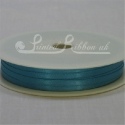 3mm aqua satin ribbon, 3mm turquoise satin ribbon, plain ribbon